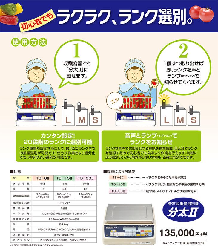 デジタル音声式重量選別機 分太2