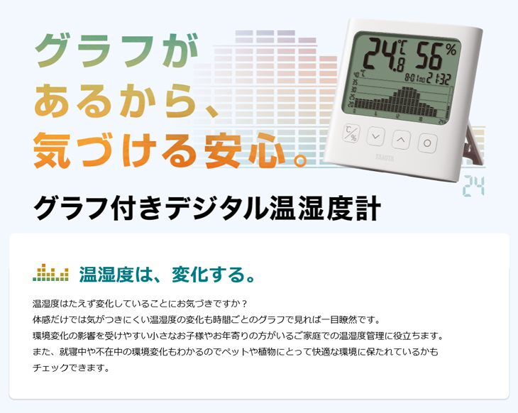 グラフ付きデジタル温湿度計 TT-580 タニタ