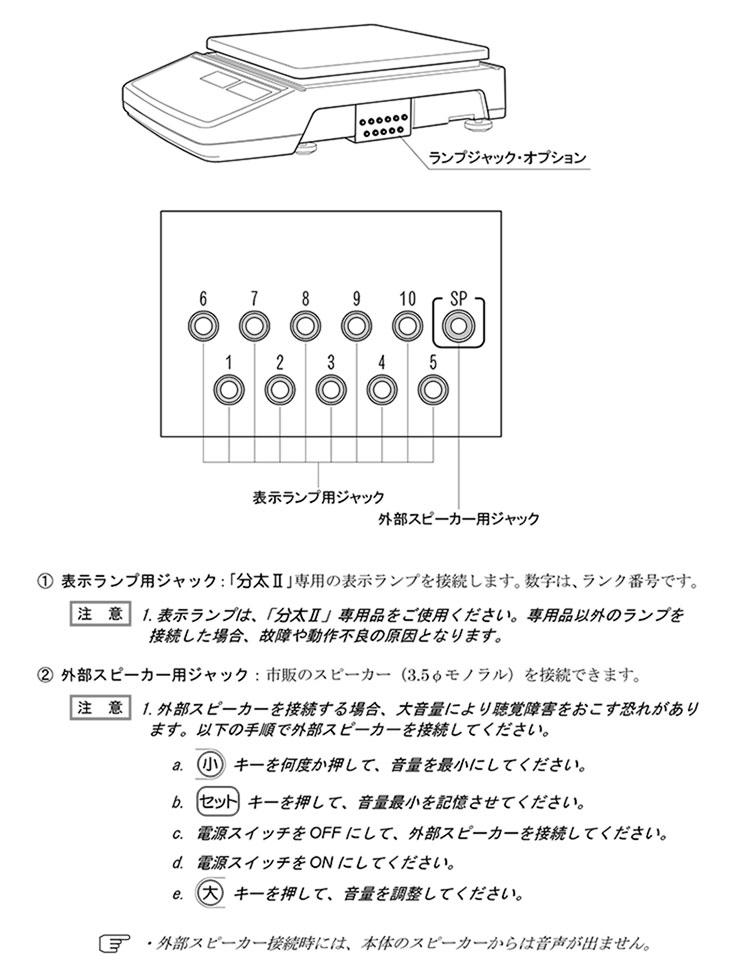 デジタル音声式重量選別機 分太Ⅱ オプション品