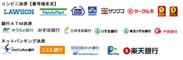 コンビニ【番号端末式】ATM・ネットバンキング決済